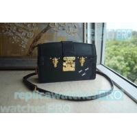 Buy cheap Newest Replica LV bag Black Monogram Reverse Canvas lv bags bag Trunk Clutch Handbag from wholesalers