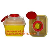 Buy cheap Hospital Medical Waste Box Disposable Plastic Sharp Container,yellow round shape 0.8L 2L 4L 6L bio medical waste bin squ from wholesalers