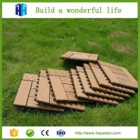 Buy cheap Wood plastic composite tiles outdoor wpc decking boards manufacturing company from wholesalers