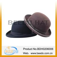 Buy cheap New product 2015 100% wool felt top bowler hat derby hat from wholesalers