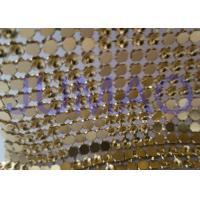 Interlaced Metal Sequin Fabric Curtain , 120 Cm * 45 Cm Metallic Mesh Fabric