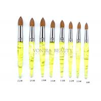 Buy cheap Pointed Lemon Yellow Kolinsky Acrylic Nail Brush Professional from wholesalers