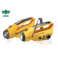 Buy cheap Yellow USB Charging DC5.1V Dynamo Led Torch With AM / FM Radio from wholesalers