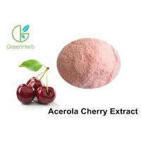 Buy cheap Light Red Natural Fruit Powder / Pure Acerola Cherry Extract Powder With 17% 25% VC from wholesalers