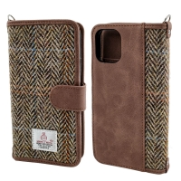 Buy cheap Brown TPU Harris Tweed 5.8 Leather Flip Cover Phone Case from wholesalers
