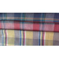 Buy cheap cotton linen poplin yarn dyed check shirting fabric from wholesalers