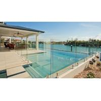 Buy cheap Modern Frameless Tempered Glass Water Pool Railing / Balustrade product