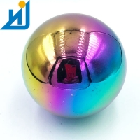 Buy cheap Garden Decorative Large Stainless Steel Metal Gazing Ball Rainbow Hollow Stainless Steel Balls from wholesalers