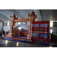Buy cheap PVC Red Wide Inflatable Bus House Jumping Castle For Kids Entertainment Eco - Friendly from wholesalers