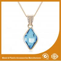 Buy cheap Blue Crystal Silver Chain Necklace Powder Coating Surface Treatment from wholesalers