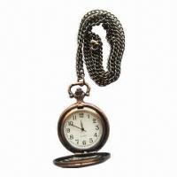 Buy cheap Pocket Watch with classical design case, logo can be print on watch dial, good gift to friends from wholesalers