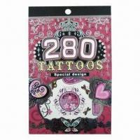 Buy cheap Nice Book Tattoo Sticker, Fashionable Design, Ideal for Decorations from wholesalers