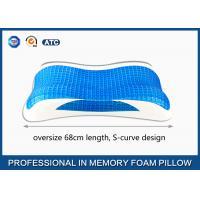 Oversize Cooling Gel Visco Memory Foam Pillow, Aloe Vera bamboo gel pillow
