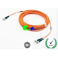 Buy cheap PVC Jacket Fiber Optic Patch Cables OM1 ST - ST 2.0mm 35dB Return Loss from wholesalers