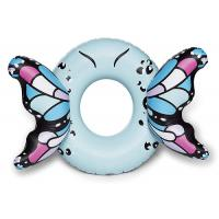 Buy cheap Customized Blue Butterfly Wings Pool Float , Adult Pool Tube With Patch Kit Included from wholesalers