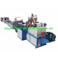 Buy cheap PVC Vinyl Plastic Sheet Extrusion Line Double Layers Co-Extrusion , Width 400mm from wholesalers