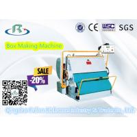 Buy cheap Good Using Platen Corrugated Carton Box Creasing Die Cutting Machine from wholesalers