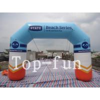 Buy cheap PVC coated fabric inflatable advertising arch , durable waterproof outdoor inflatable arch from wholesalers