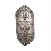 Buy cheap 3D embossed metal wine bottle label and perfume bottle label maker product