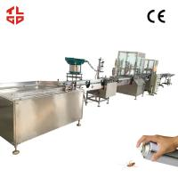 Buy cheap Automatic Aerosol Spray Filling Line, Automatic Insecticide / Pesticide Filling Machines from wholesalers