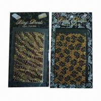 Buy cheap Rhinestone/crystal sticker, eco-friendly material, available in various sizes and designs product
