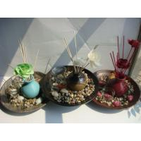 Buy cheap Eucalyptus Patchouli Ceramic Reed Diffuser Set Air Fresheners Round Plate product