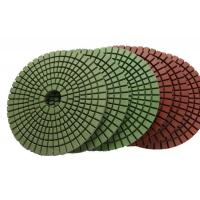 Buy cheap Abrasion Resistant Diamond Resin Polishing Pads Installed On Portable Grinding Machine from wholesalers