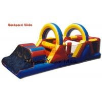 Buy cheap Commercial Inflatable Castle Bouncer / Obstacle With Slide , 16*4*5M from wholesalers
