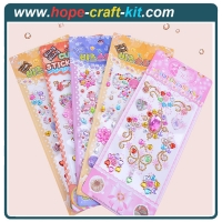 Buy cheap 3D Acrylic Self Adhesive Diamond gem drill stickers Rhinestone Sheet for kids diy and Decal Mobile Scrapbooking OEM from wholesalers