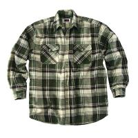 Buy cheap Men`s Acrylic Yarn Dyed Long Sleeve Padded Shirt from wholesalers