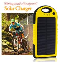 China Dustproof double usb solar mobile phone battery charger 5000mAh on sale