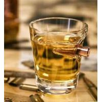 Buy cheap Bullet Handmade Scotch Glasses / Drinking Bar Round Bottom Whiskey Glasses from wholesalers