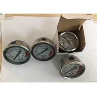 Buy cheap Stainless Steel Oil Filled Pressure Gauge for Water Treatment Back Connection from wholesalers