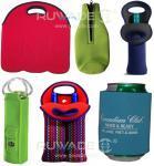 Neoprene wine beer bottle cooler holder tote,2 pack,6 pack,with handle or zipper,slap cooler koozie