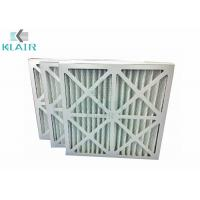 Buy cheap Cardboard Frame Hvac Pre Filter , Pleated Panel HVAC Furnace Filter G4 from wholesalers