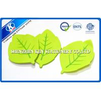 Buy cheap Green Memo desktop sticky notes Leaf Shaped For Kids , post sticky notes from wholesalers