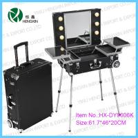 Buy cheap Portable Makeup Station With Lights Cosmetic Train Cases 617×460×200 mm from wholesalers