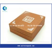 Buy cheap paper packaging box kraft paper box paper lunch box with gold stamping from wholesalers