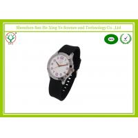 China 3 ATM Water Resisant Silicone Strap Watches With Japan Battery Custom Logo on sale