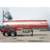 Buy cheap 36000L Double Axle Aluminum Tanker Trailer For Carry Liquefied Loads from wholesalers