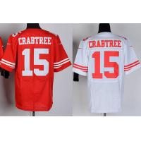 Buy cheap NFL jerseys San Francisco 49ers 15#Crabtree white&red Elite Jerseys from wholesalers