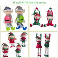 Buy cheap Lovely Holiday Plush Toys Christmas Elves Dolls 20cm Size Home Decoration from wholesalers