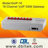 Buy cheap 16 Channels GoIP Support VPN / Relay , SIP & H.323 SIP GSM Gateway  from wholesalers