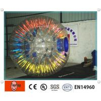 Buy cheap Popular Glowing inflatable zorbing ball equipment / human hamster ball with OEM Logo from wholesalers