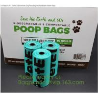 Buy cheap factory supplier Compostable Recyclable Clear Poly Bags Custom Logo Seal Garbage Bag,dog poop bag, doggy bag, pet suppli from wholesalers