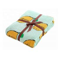 Buy cheap Pure Cotton Lemon Pattern Custom Baby Blankets For Sleeping And Outdoor from wholesalers