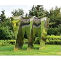 Buy cheap Customized Large Outdoor Sculpture , Large Metal Yard Sculptures Stainless Steel Cloud from wholesalers