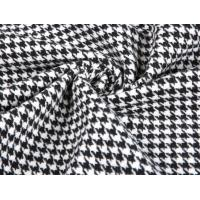 Buy cheap 2018 brushed thick heavy houndstooth merino 80%wool velvet fabric for overcoat from wholesalers