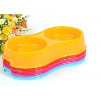 Double Feeder Custom Pet Bowls , Food Grade PP Colorful Plastic Dog Bowls