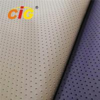 Buy cheap Fake Holes Artificial Leather Fabric , Pvc Synthetic Leather 0.8-1.0mm Thickness product